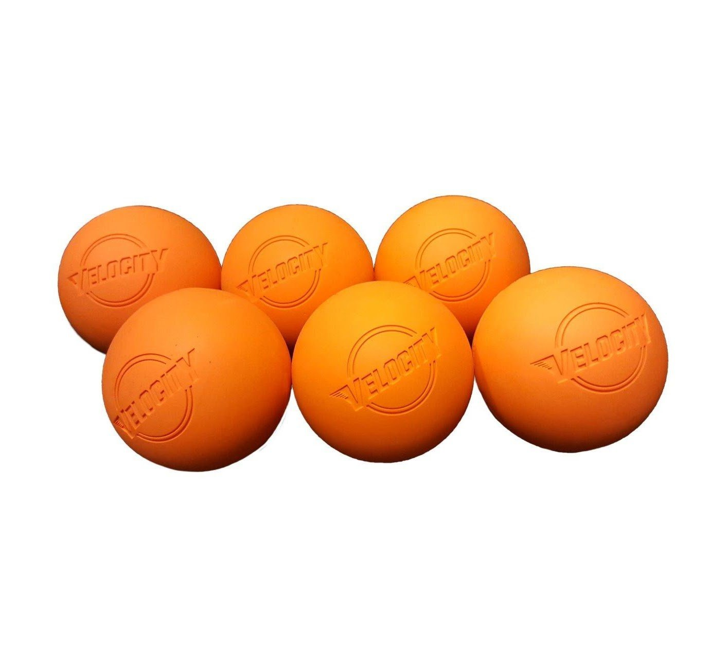 Velocity 6 Pack Lacrosse Balls for Adults & Kids: Official Size for Professional, College & High School. NOCSAE, NCAA, NFHS Certified. Colors: Yellow, Orange & White.