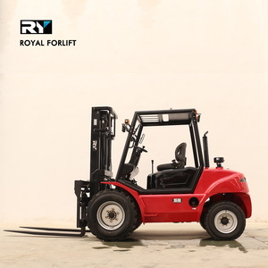 High quality 4x2 2 wheel drive Royal forklift rough terrain forklift truck 3 ton diesel price CE/ISO Japanese engine