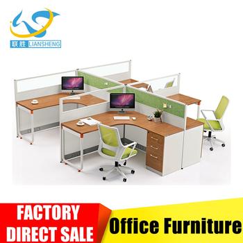 Moderne Büro-partitionen Möbel Modulare Büro Workstation Für 4 ...