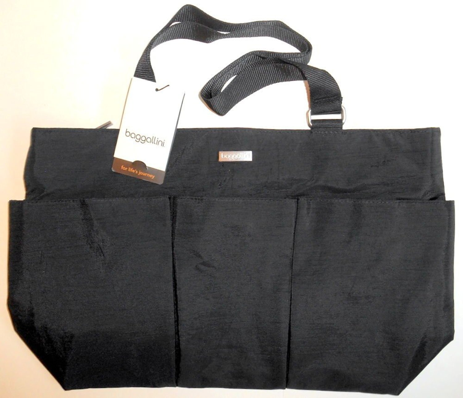 Baggallini East West (E/W) Tote, Black