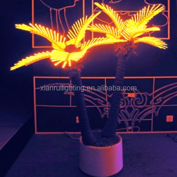 Popular party led light palm tree table decorations
