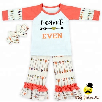 Unique Design Kids Outfits Fall Clothing Sets Girls Kids Clothing