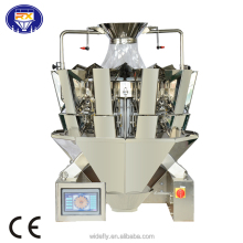 China new design snack food hardware chemical frozen seafood multihead weigher packing machine
