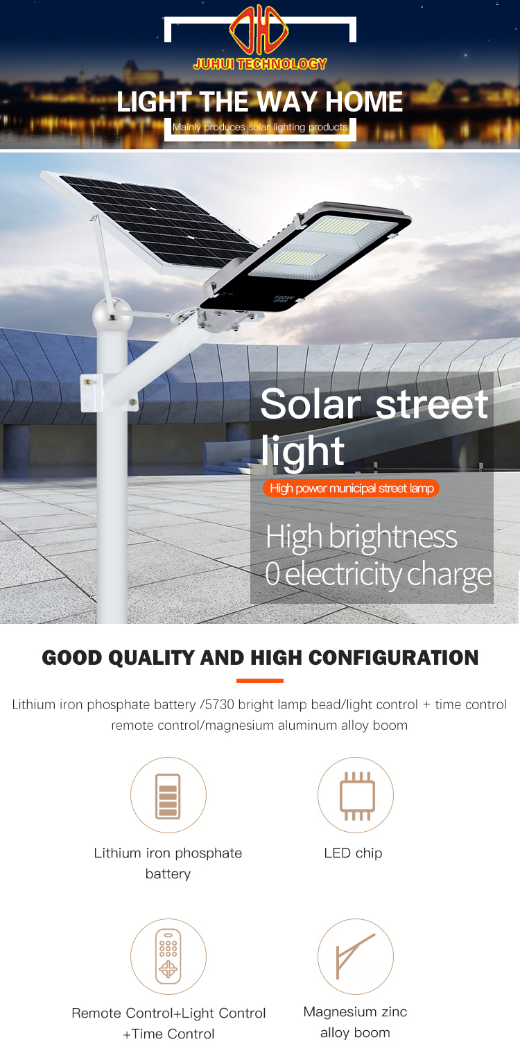 High quality waterproof outdoor ip65 smd aluminum split solar led street lamp