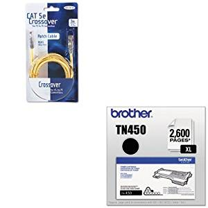 KITBLKA3X12607YLWMBRTTN450 - Value Kit - Belkin CAT5e Crossover Patch Cable (BLKA3X12607YLWM) and Brother TN450 TN-450 High-Yield Toner (BRTTN450)