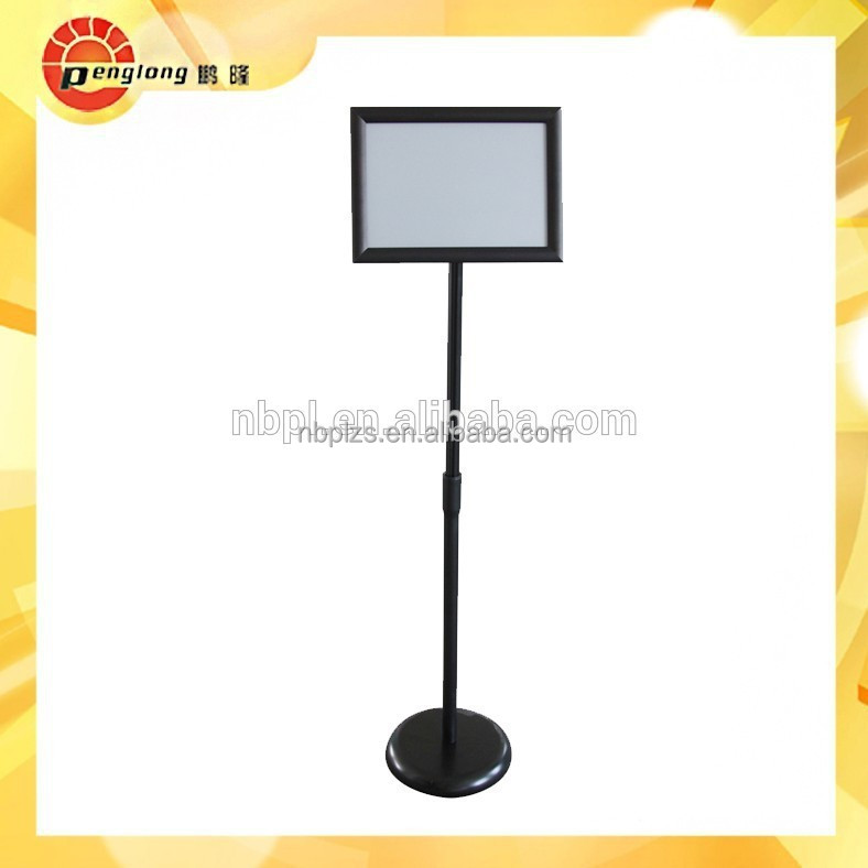 Good quality restaurant floor free standing menu stand poster snap stand