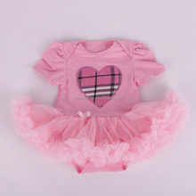 Cute flower dress girl baby lace rompers baby valentine outfit