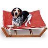 2018 New design pet products bamboo pet bed dog bed for Christmas gift