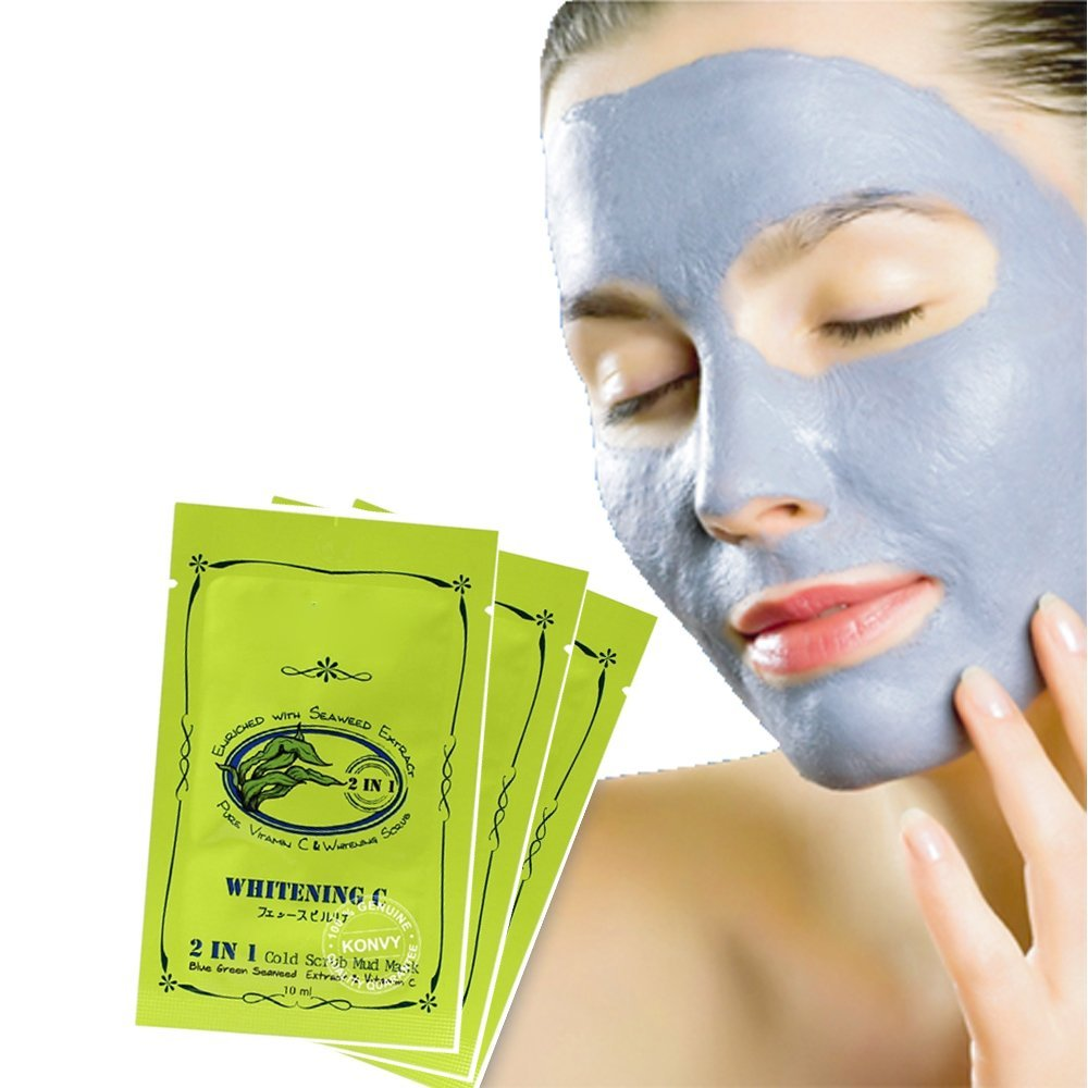 Buy Seaweed Whitening Vitamin C Facial Scrub Mud Mask Lightening Treatment For Women Men Of