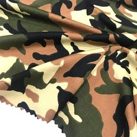 160gsm single jersey knitted camouflage printed 100 polyester lycra moss crepe fabric for dress
