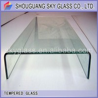 factory price new style tempered high quality hotel bathroom modern safe channel U type glass