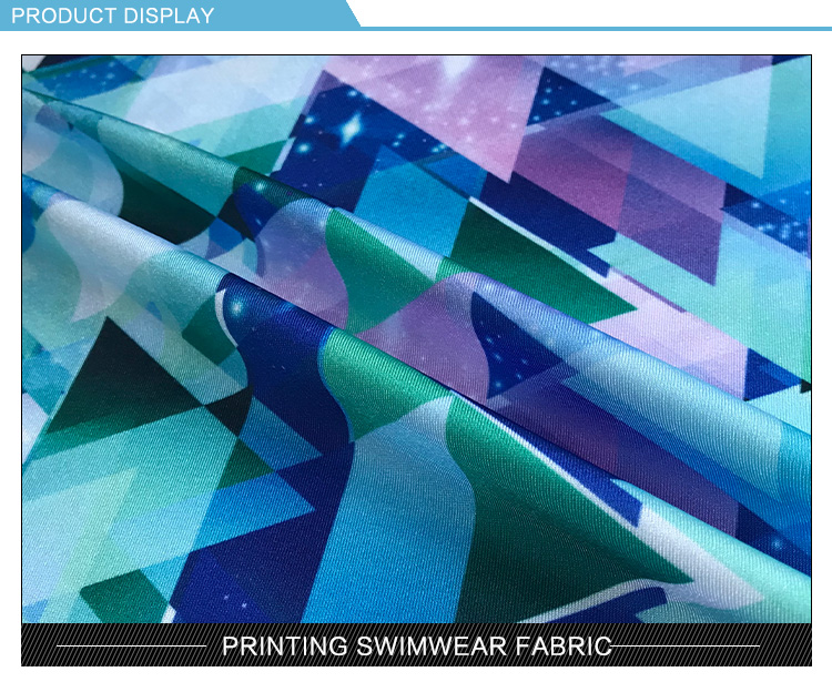 printed 150 polyester 2way stretch spandex elastic mesh fabric