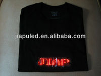 The newest 7*21 dot matrix LED programmed message panel for ball team advertising T-shirt and hat