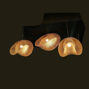 Southeast Asia Modern Simple Z Shaped Bamboo Lamps Restaurant Lights Living Room Lobby Bamboo hotel Chandelier