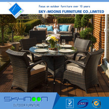 Simple and creative rattan garden leisure chair and table set,courtyard garden outdoor furniture (11024)