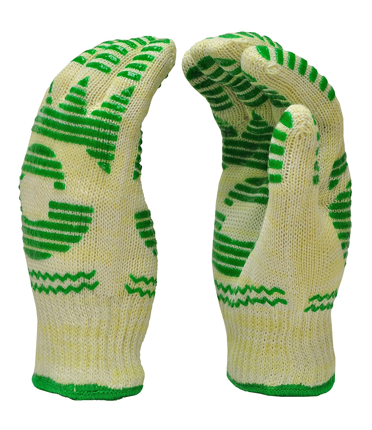 GF Gloves 1684L-12 Heat Resistant Oven Gloves, Withstands Extreme Heat, Flexible 5 Finger Oven Mitt, Large (Pack of 12)