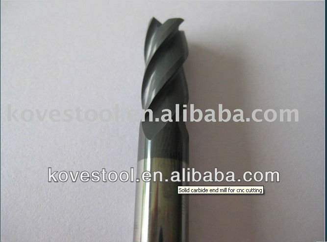Solid carbide end mill for cnc machine