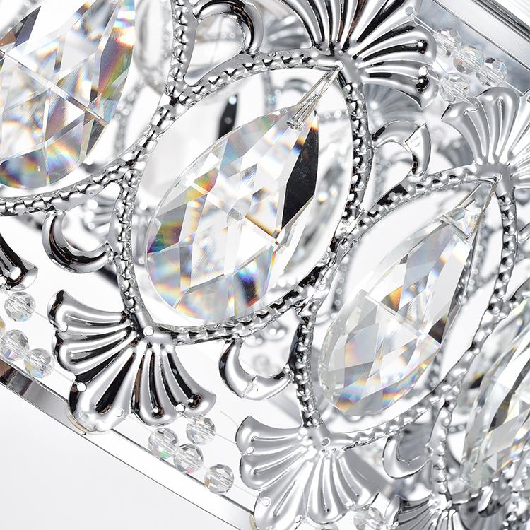 Ново-проектированные круглые серьги с современной кухни ресторана светодио дный с украшением в виде кристаллов потолочный светильник