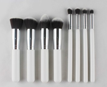 Pearl White 8 /10 Pieces Good Quality Makeup Brushes,Synthetic ...