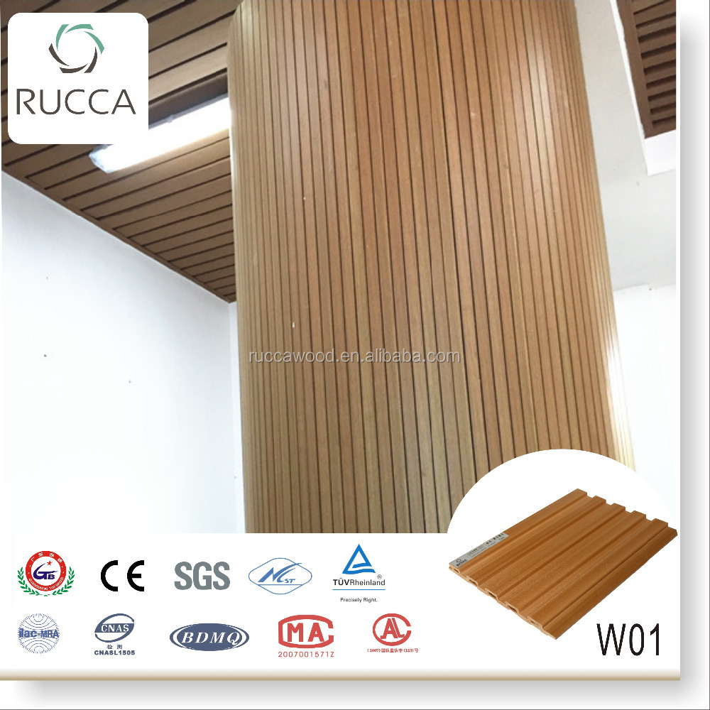 2016 wood composite pvc wall panels decoration 159*10mm home/office interior decoration Guangdong China building materials