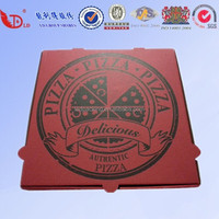 High Quality and cheap custom food grade corrugated pizza box with logo
