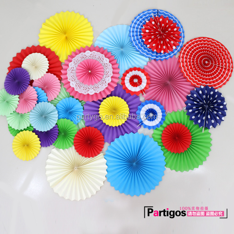 Multi-color Papier Windrad Fan Handgemachte Handwerk Party Dekoration