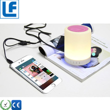 Smart Home Automation House Portable Blue Tooth Wireless Speakers With Mini Speaker Led Table Lamp Desk Lamp