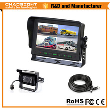 7 Inch Digital Color quad monitor rearview camera for truck