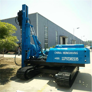 Hot Sale Ground Screw Crawler Hydraulic Solar Pile Driver Machine