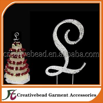 Crystal Rhinestone Covered Silver Monogram Wedding Cake Topper Letter L Buy Wedding Cake Topper Cake Decorating Shining Rhinestone Birthday Cake