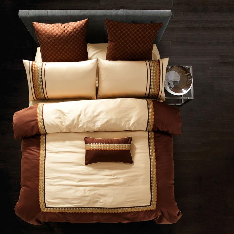 achetez en gros drap de lit de broderie en ligne des grossistes drap de lit de broderie. Black Bedroom Furniture Sets. Home Design Ideas