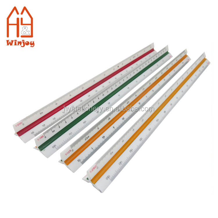 Promotional Plastic Engineer Triangular Metric Scale Ruler 1:20 1:25 1:50 1:75 1: 100 1: 125