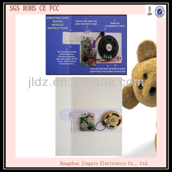 Customer DIY Programmable Sound Module for Greeting Card and Toys