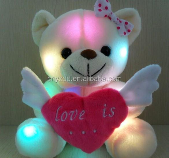 Light Up Teddy Bear Plush Toy/light Up Teddy Bear /led Light Teddy ...