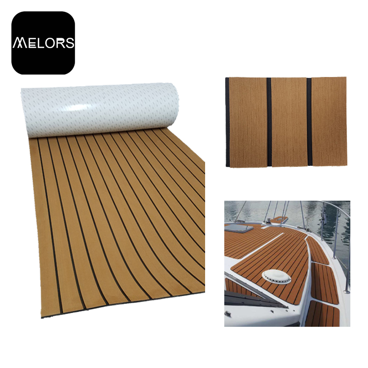 Melors 90in x 35in Boat <strong>Flooring</strong> EVA Non Skid Faux Teak <strong>Flooring</strong> Supplier