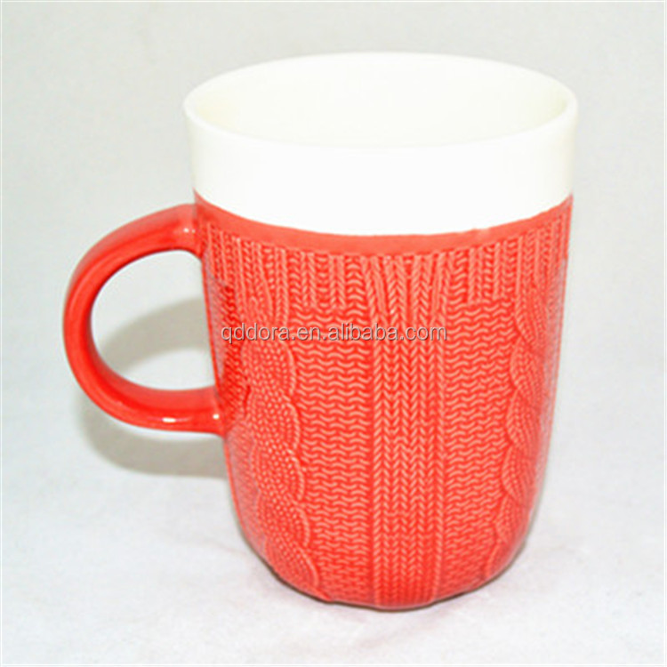 bulk buy from china, red corn shape porcelain cup, cute ceramic mug for children