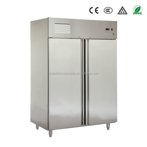 Catering equipment static or ventilated cooling system upright stainless steel commercial heavy duty refrigerator for restaurant