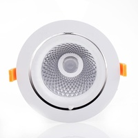 5inch fireproof led gimbal recessed light trim 2*30W led downlights 0-10V dimmable 2 head cob ceiling gimbal light