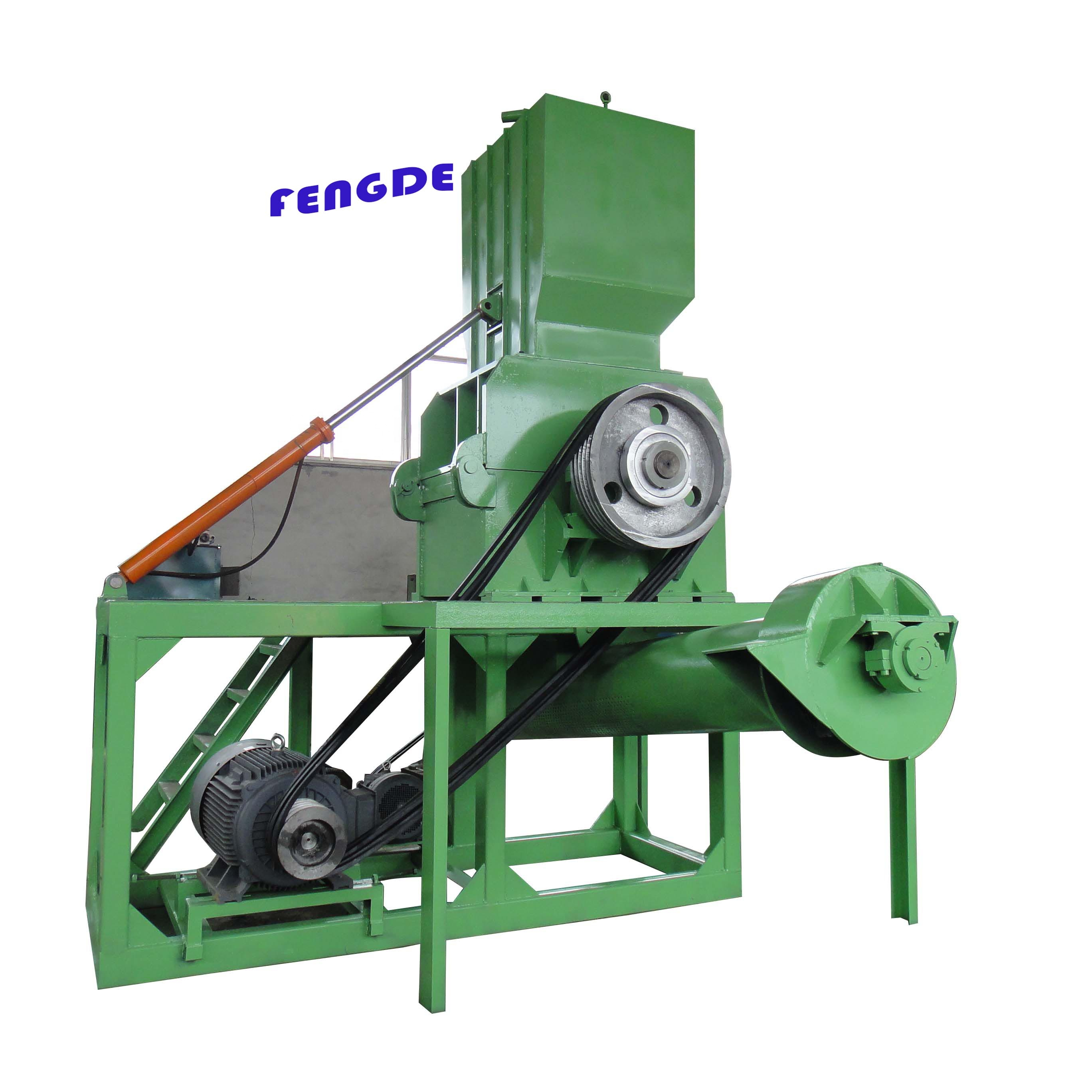 Shredder machine plastic/papier/hout/band afval recycling dubbele as shedder machine