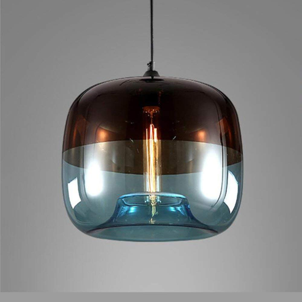 Ting w unique optic contemporary hand blown glass pendant light ceiling hanging lighting fixtures