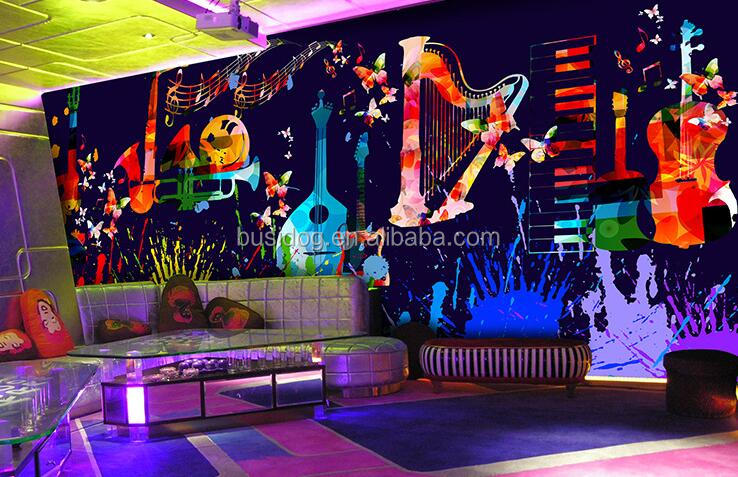 China wallpaper 3d wall murals for KTV and pub decor
