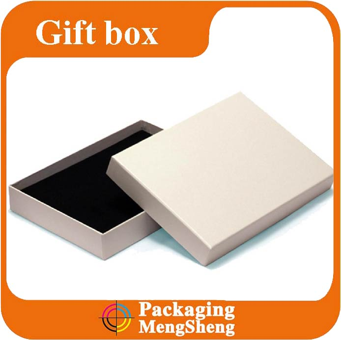 High quality packaging factory customize large white gloss gift boxes