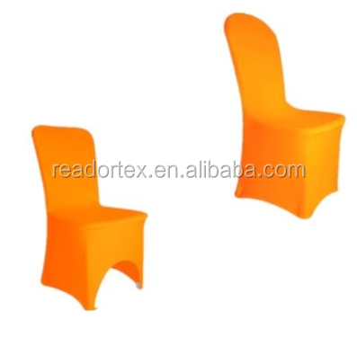 Orange Spandex Chair Cover Different Front Make To Order Chair Cover