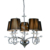 Black Fabric Shade Crystal Chandelier Pendant Light