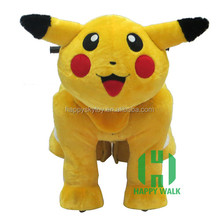 Happy Sky PIkachu coin operated ride on horse toy pony,electric animal ride car,,walking animal rides for mall