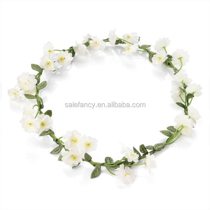 Beauty White Flower Indian Wedding Flower Garland Crown Qfhd-2551 ...
