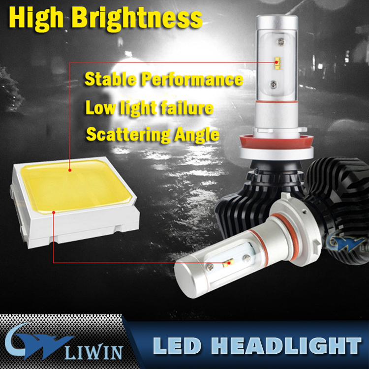 Top Quality Led Headlight 50W H11 Auto Car Led Headlight IP67 6000lm Led Headlight Bulbs With Driver