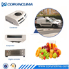 Battery powered van refrigeration units with rooftop mounted anti-sun plastic condenser