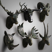 hot selling resin hanging animal head craft wall art for home decor