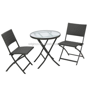 Enjoyable 2 Seater Home Terrace Small Cafe Rattan Furniture Set Glass Top Table And Folding Chairs Outdoor Buy Folding Chair Outdoor Terrace Table And Dailytribune Chair Design For Home Dailytribuneorg